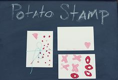DIY Potato Stamp Valentine