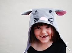 A beautiful handmade childrens character hat in softest cotton velvet.  Sure to create a smile, this little character hat is handmade in the UK, in softest cotton velvet, with a hand applique face and little ears.  The felt claws on the ear flaps make a cute addition.  Wear on its own or with one of the Wild Things character dresses or dungarees.  Watch out for more hats coming soon!  cotton velvet outer, cotton lining.  small : fits up to 1yr  medium: fits 1-4 yrs  large: fits …