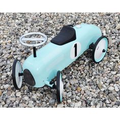 Magni - Gåbil i metal, petroleumsfarve / Ride-on-car in metal, car petroleum color Magni - ImageToys