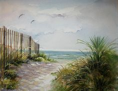 Ocean Isle Beach Sold Painting by Gloria Turner - Ocean Isle Beach Sold Fine Art Prints and Posters for Sale