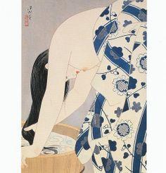 伊東深水の'髪'(1953年 横浜美)
