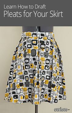 Add pleats to your flared skirt for a fuller look! This DIY sewing lesson shows you how to make the alterations to your existing skirt pattern.