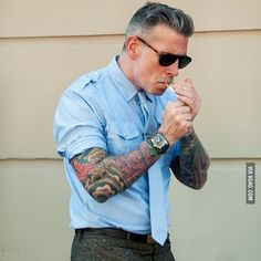 """Tattoos will look silly when you're older"" #9gag"