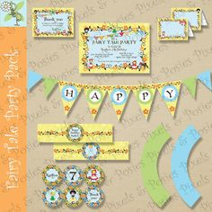 Custom Printable Party Package - Print Your Own Fairy Tale - Birthday - Costume - Party