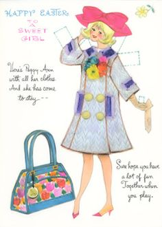 Happy Easter - This is Peggy Ann a Hallmark paper doll card