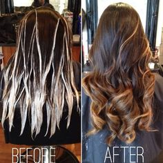 Balayage technique:                                                                                                                                                     More