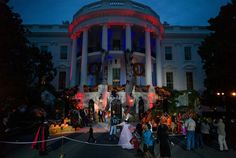 On Halloween, President Obama and the First Lady welcomed local students and the children of military families for trick-or-treating at the White House.