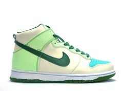 reputable site f24d1 9d249 Glow in the Dark Nikes Green Dunk High Shoes 95 Blue Basketball Shoes,  Original Air