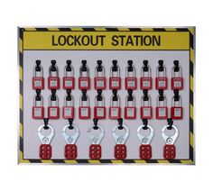 20 lock lockout station with contents