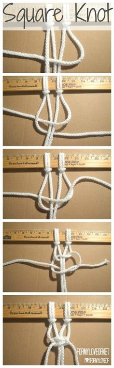 Guide to macrame knots