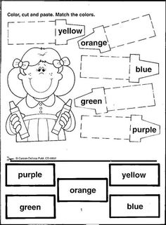 Cut And Color : Cut, color and paste on Pinterest Cut And Paste, Letter Sounds and ...