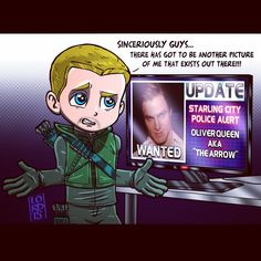 """Wanted!"" That picture though... lol #arrow #lordmesaart"
