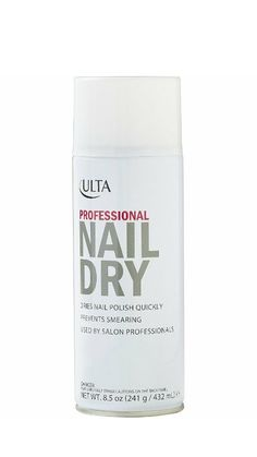 Ulta S Professional Nail Dry Spray Sets Polish Quickly To Avoid Smearing Simply On