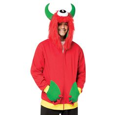 HaHa Hoodies™ are a simple costume alternative that are funny and can be worn year-round. The Monster Hoodies are zippered sweatshirts that have hoods with horns, hair, and an eyeball in the center. Available in Adult and Children sizes. Pair it up with the child's hoodie.