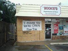 I assure you we're open