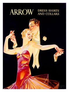 Arrow Dress Shirts and Collars ジクレープリント