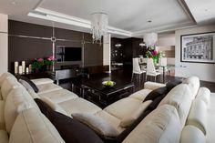 Дизайн роскошной квартиры в бежево-коричневых тонах от Hola Design / CURATED.ru