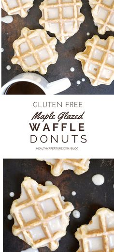 This gluten free donut is perfectly sweetened with maple sugar and so easy to make using a waffle iron -- no donut pan required! Recipe by @kumquatblog on @healthyaperture