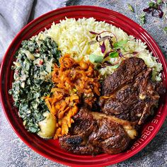 South African Recipes, Ethnic Recipes, Lamb Chops, Paella, Dinner Plates, Red, Instagram
