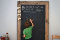 Going to try this for our new basement.  Giant Chalkboard | The Merrythought