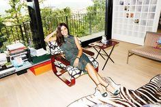 Margherita Maccapani Missoni inside her glam home