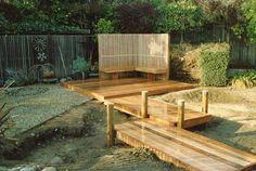 pretty fancy boardwalk for a backyard