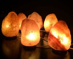 COMPARE Genuine Sphere-Shape Citrine Point  Lamp WBulb And Cord #B1