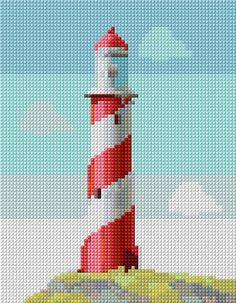 Cross Stitch | Lighthouse xstitch Chart | Design