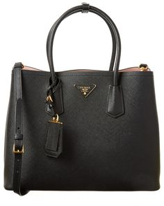 Prada Saffiano Cuir Leather Double Handle Tote