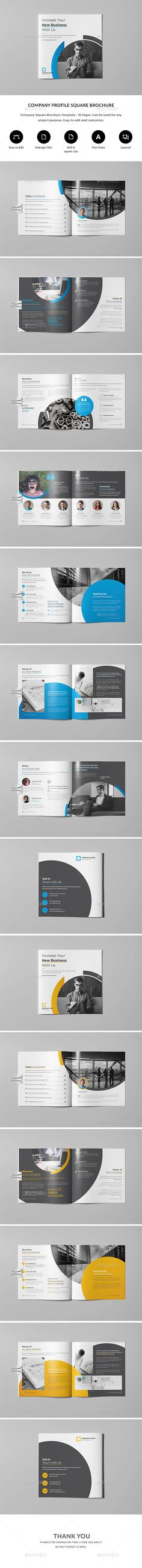 Company Business Profile Brochure Template InDesign INDD Company
