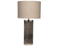 Grey Hide Table Lamp – 2 in Stock | The  Local Vault