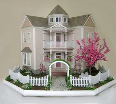 "The Visalian, beautiful 1/4"" scale dollhouse by Cynthia Howe."