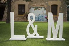 Letras para photocall de bodas
