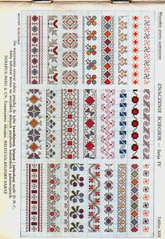 2 Colour Carrier Bead Patterns, Odd Count Peyote, Two-Colour Patterns, Full Word Charts, Red and White - Her Crochet Cross Stitch Boarders, Cross Stitch Bookmarks, Cross Stitch Flowers, Cross Stitch Charts, Cross Stitch Designs, Cross Stitching, Cross Stitch Patterns, Blackwork Embroidery, Folk Embroidery