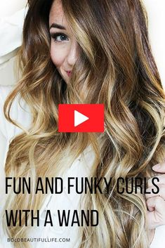 Hairstyle tutorial for fun and funky curls! I'll show you how I use a wand to achieve this look, easy everyday curls. Easy Summer Hairstyles, Funky Hairstyles, Elegant Hairstyles, Everyday Hairstyles, Curling Thick Hair, Curls For Medium Length Hair, Medium Hair Styles, Long Hair Styles, Everyday Curls