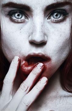 authorbradjensen:    Bloody Lipped Girl