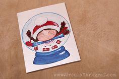 Folded card Christmas hug - €2.50 (about $2.70) by Ursula Markgraf, mixed-media artist  #christmascard #christmashug #ursulamarkgraf #mixedmediaart #weihnachtsumarmung #weihnachtskarte