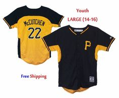 $32 Free Ship Andrew McCutchen #22 Pittsburgh Pirates Youth Replica Jersey LARGE Majestic $55R #Majestic #PittsburghPirates #AndrewMcCutchen
