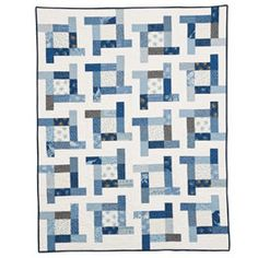 I love blue and white quilts...