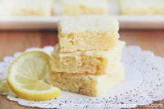 Lemon Brownies - I Heart Nap Time