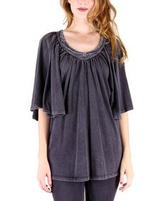 Charcoal Peasant Tunic - Women #zulily #zulilyfinds