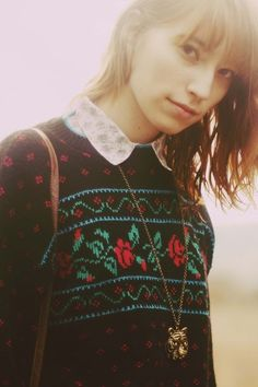 lovely collar and sweater