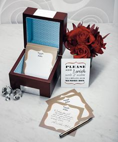 Wooden Memory Note Box with matching Wishing Well Stationery Set Card Box Wedding, Wedding Guest Book, Wedding Reception, Our Wedding, Wedding Ideas, Wedding Stuff, Dream Wedding, Wedding Inspiration, Wedding Parties