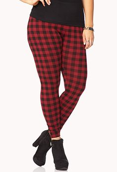 Grunge Girl Checkered Leggings | FOREVER21 PLUS - 2079146891