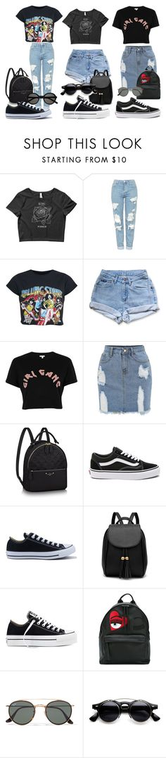 """35"" by kfhfkkb on Polyvore featuring мода, Topshop, Levi's, River Island, Vans, Converse, Chiara Ferragni, Ray-Ban и Yves Saint Laurent"