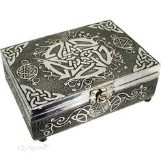 Celtic Pentacle Metal Box 5x7