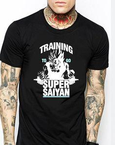 Training to go super saiyan  black Men T-Shirt