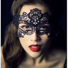 Masque Dentelle Noir Femme Libertin Carnaval Erotique Venise