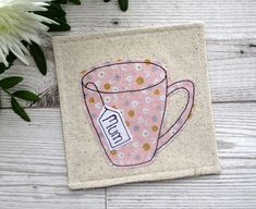 Mum Coaster Personalised Gift Fabric Coaster Mug Coaster Gifts For Mum, Small Gifts, Home Gifts, Personalized Coasters, Personalised Gifts, Mum Birthday Gift, Tea Coaster, Fabric Coasters, Company Gifts