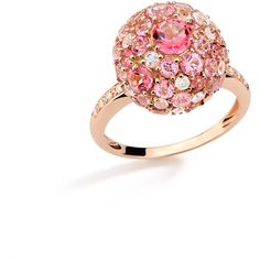 Baobab Bubbles Ring in Rose Gold by Brumani ($3,745) ❤ liked on Polyvore featuring jewelry, rings, 18k rose gold ring, bubble jewelry, 18 karat gold jewelry, pink gold rings and 18k jewelry
